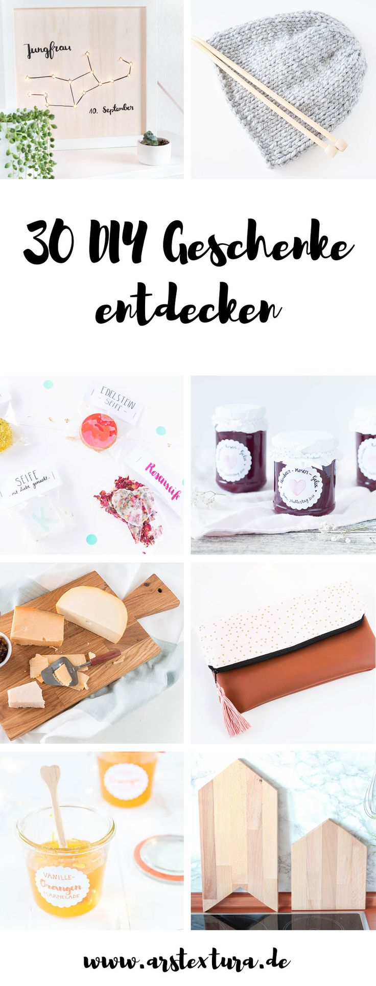 Du suchst DIY Geschenke zum Geburtstag, Weihnachten oder dem Muttertag? Hier findest du viele tolle DIY-Ideen für deine Liebsten!