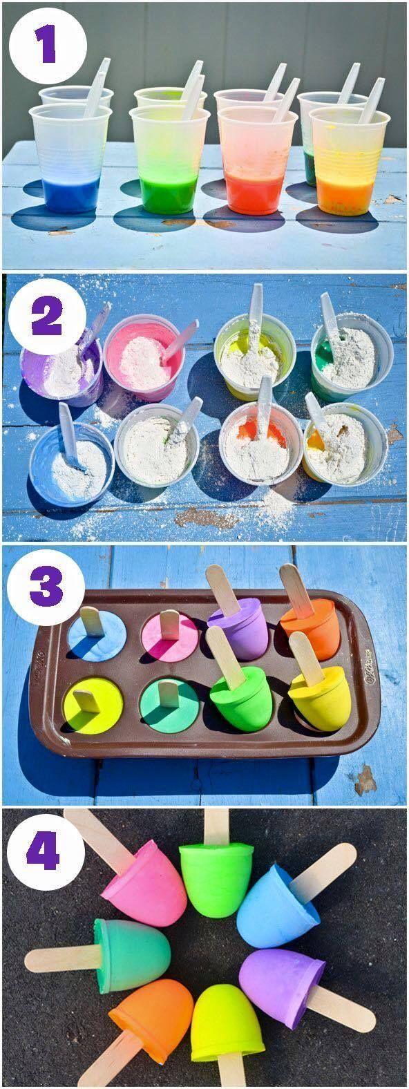 How to make sidewalk chalk POPS