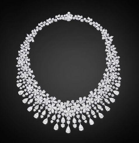 Google+Diamond Flower Necklace by Graff
