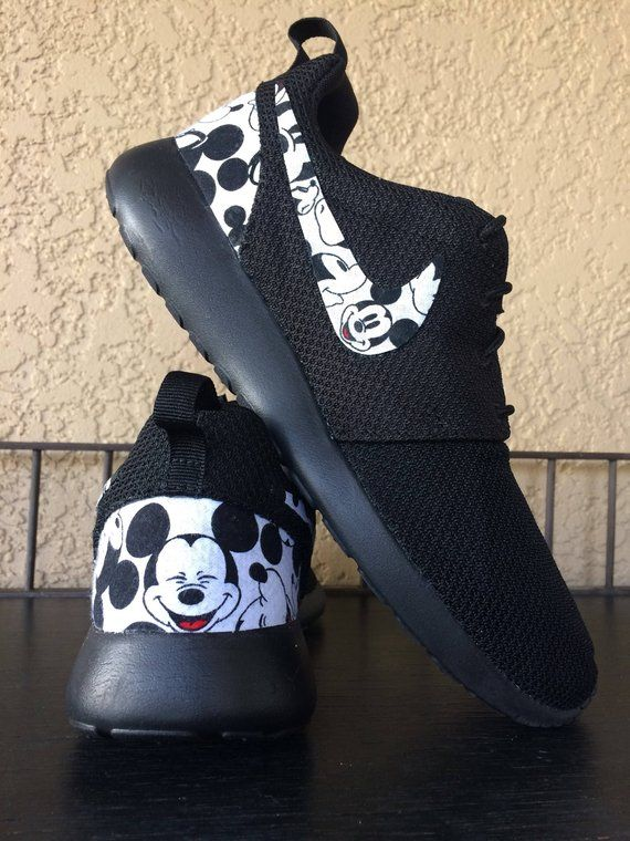 b752356897a7 Mickey Mouse Custom Nike Roshe in 2019