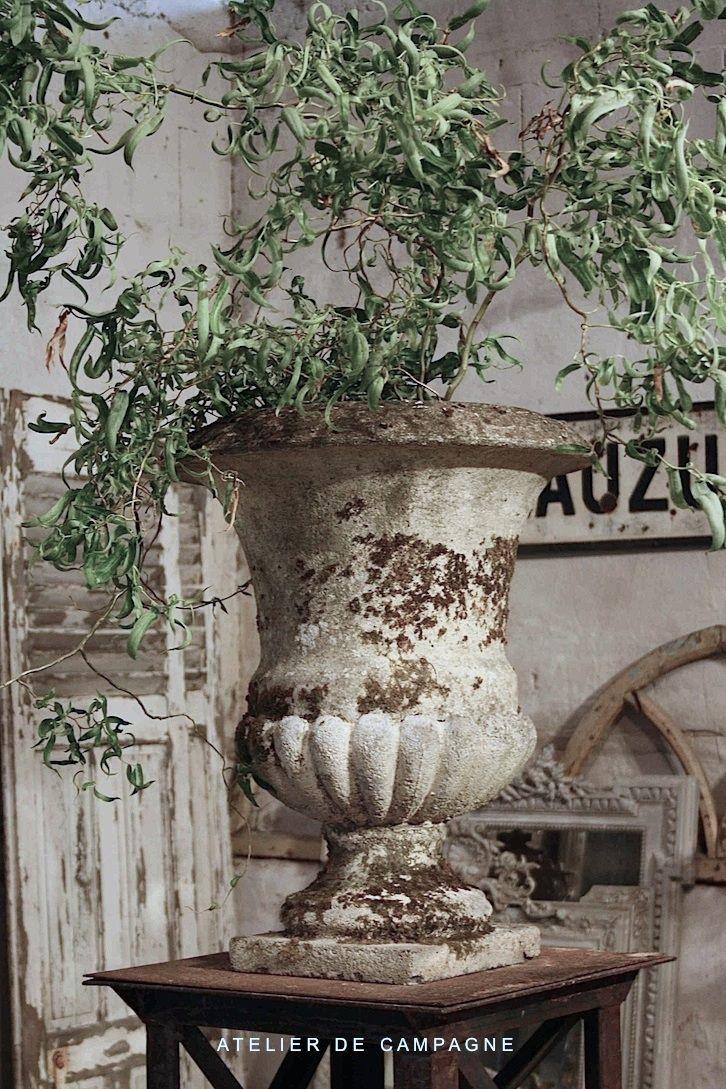 French 19th century Garden Urns  Atelier de Campagne: Church Decoration, Inspiration, Gardens Urns, Gardens Idea, 19Th Century, Decoration Idea, French 19Th, French Gardens, Century Gardens