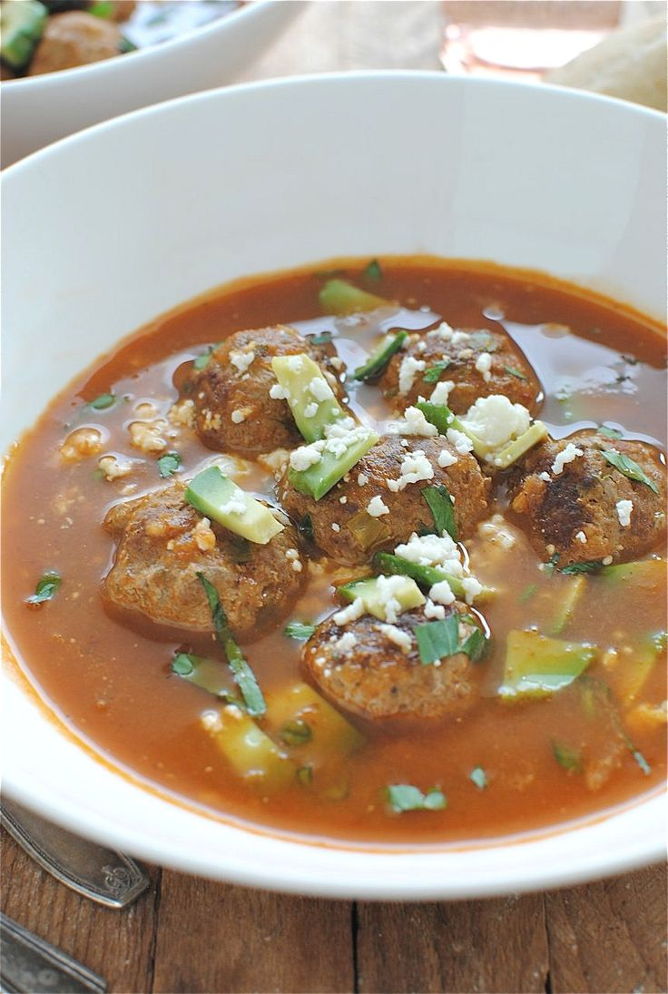 Mexican Meatball Soup | Soups, stews,chowders & chilies | Pinterest