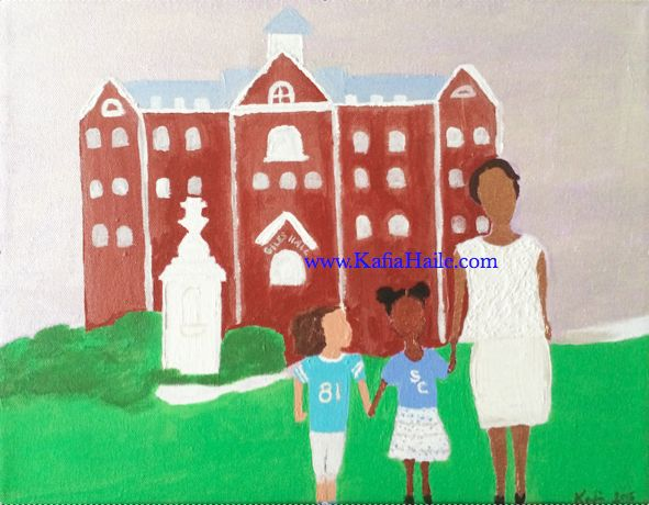 """In Mama's Footsteps"" by artist Kafia Haile Commissioned by a Spelman College Alumna"
