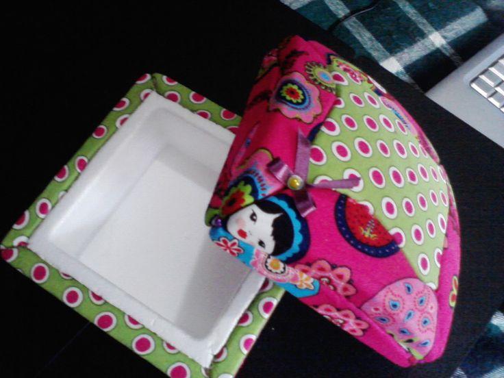 #Passo-a-passo caixa em esferovite em Patchwork Embutido, na sua totalidade / #tuturial #box #patchwork