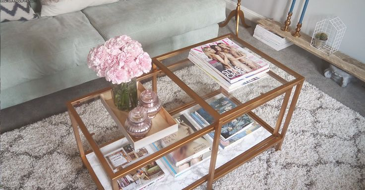 Nothing beats a cleverIkeahack, and this penny-pinching makeover, courtesy ofGeorgiaAdolpho.com, combines two of our favourite interiors trends: gold and marble.Just follow her three simple steps and you can turn a£45 coffee table setinto a blogger-worthy, high-end essential.