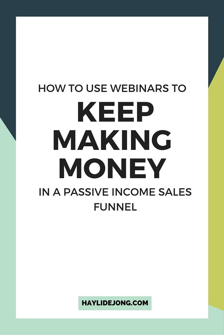 Most bloggers and entrepreneurs know that you can make loads of money DURING a webinar- but did you know that you can still keep making money afterwards in a passive income sales funnel? Check out this post to find out a few ways to make money after your webinar has already happened.