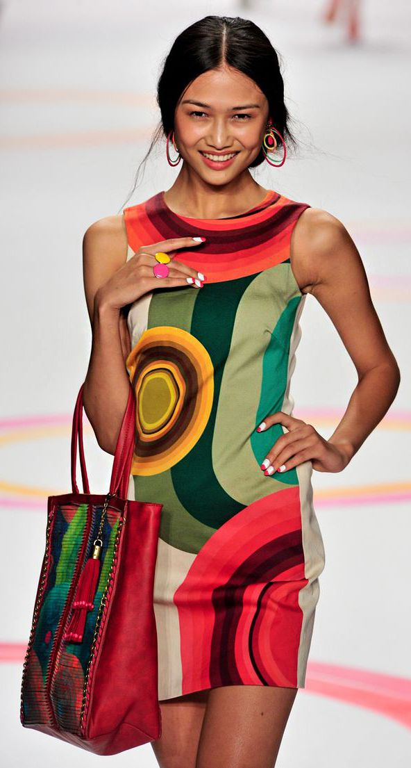 Desigual at New York Fashion Week Spring 2014 - StyleBistro http://www.linkreaction.com.au/