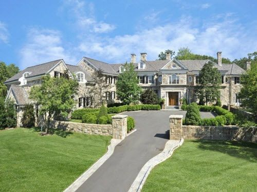 19 9 million extraordinary stone georgian mansion in for Luxury homes for sale in greenwich ct