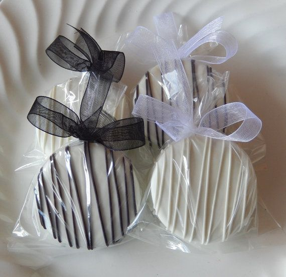 120 Dipped Oreo Cookie Black and White by SimplyDivineDesserts - favors for Rehearsal dinner, Engagement party, Bridal shower