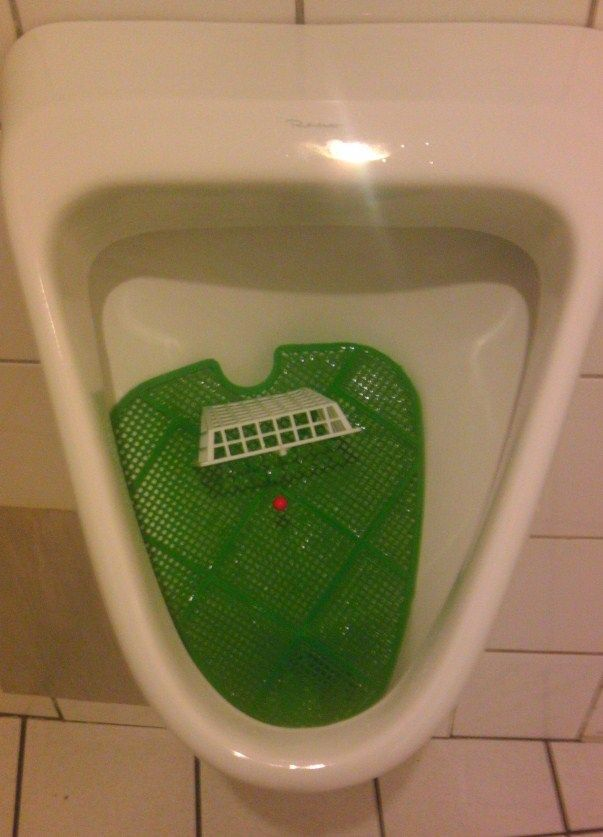 European Football Championship Fever in Germany - Makes The Urinal!