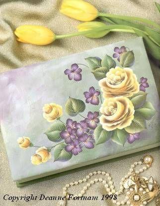 Painting Roses with Deanne Fortnam | ... basic stroke roses a rosey picture album bavarian clock norwegian