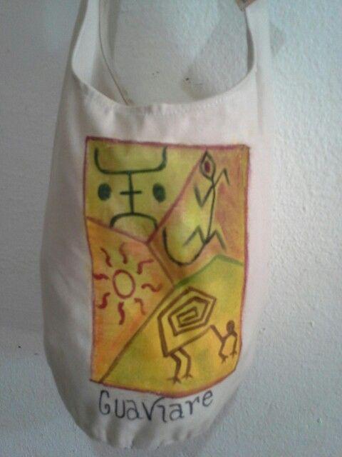 Bolso pequeño pintado a mano