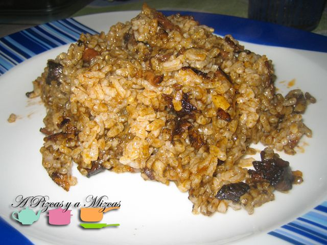 arroz rápido con calamares