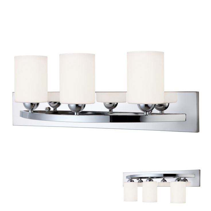 Bennington IVL370A03-CH-O-GD Lakeland 3 Light Bath Vanity Light Bar Fixture, Chrome – Vanity Lights – Residential Lighting - GreyDock.com