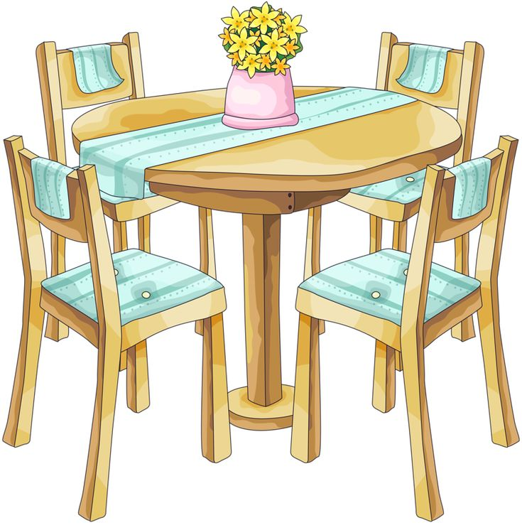 table clipart. table and chairs * table clipart r