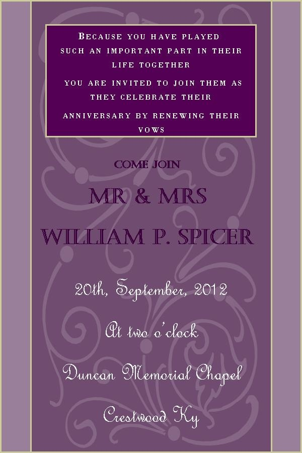 Our Vow Renewal Invitations