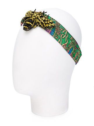 Gucci ободок для волос с кристаллами