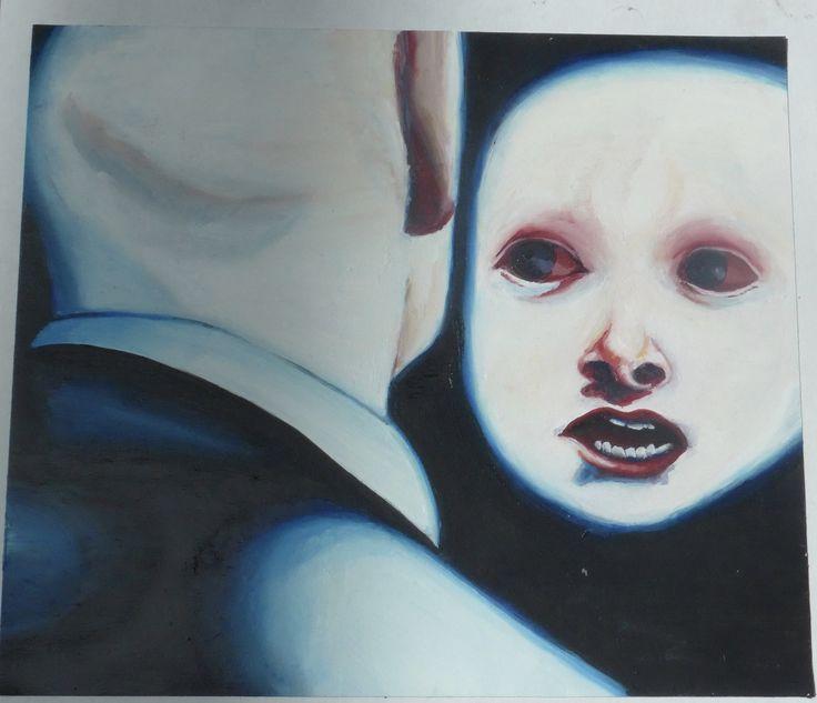 Caelyn Eades, Fear, Oil paint