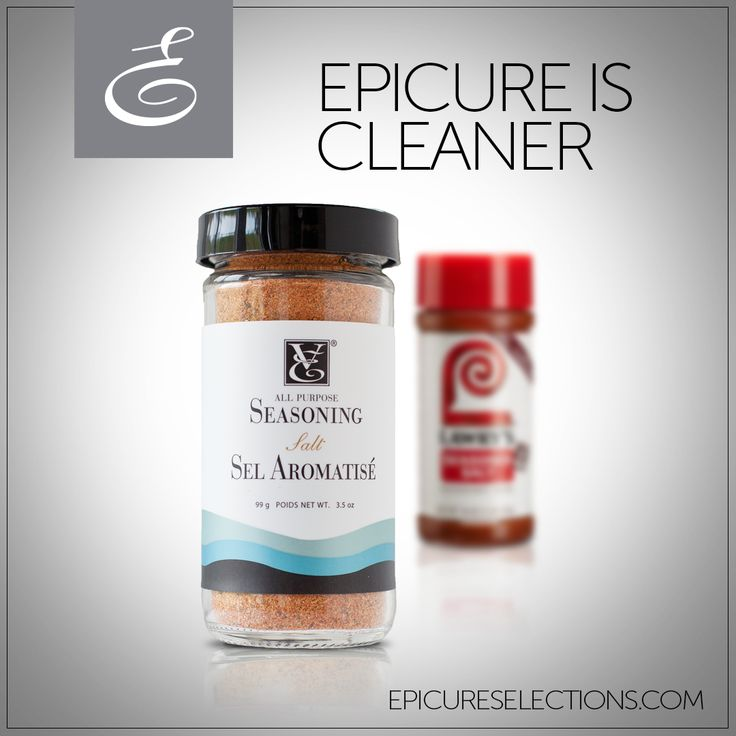 Give your meals a flavour boost without sacrificing your health! Epicure's All-Purpose Seasoning Salt has 40% less sodium than store brands. #glutenfree