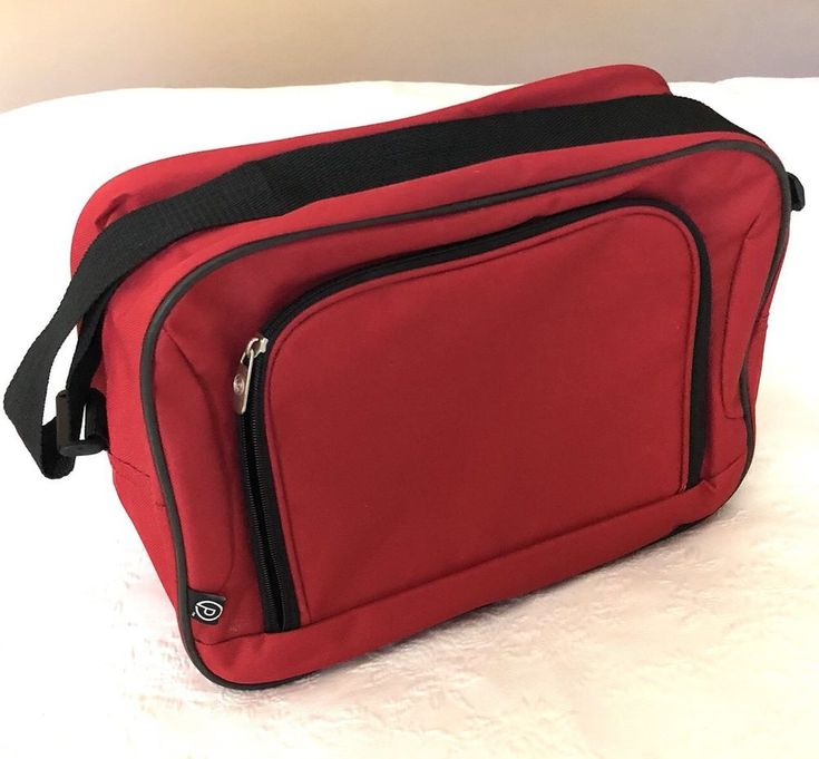 Protege red lightweight Heavy duty boarding bag carry on luggage tote bag  | eBay
