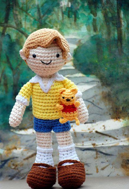 Amigurumi Hair Boy : Christopher robin and pooh bear!! Ah do cute, pooh should ...