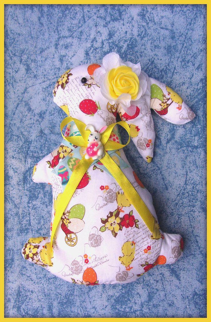 Lapin de Pâques en tissu oeufs poussins avec noeuds N°14 : Jeux, peluches, doudous par orkan28