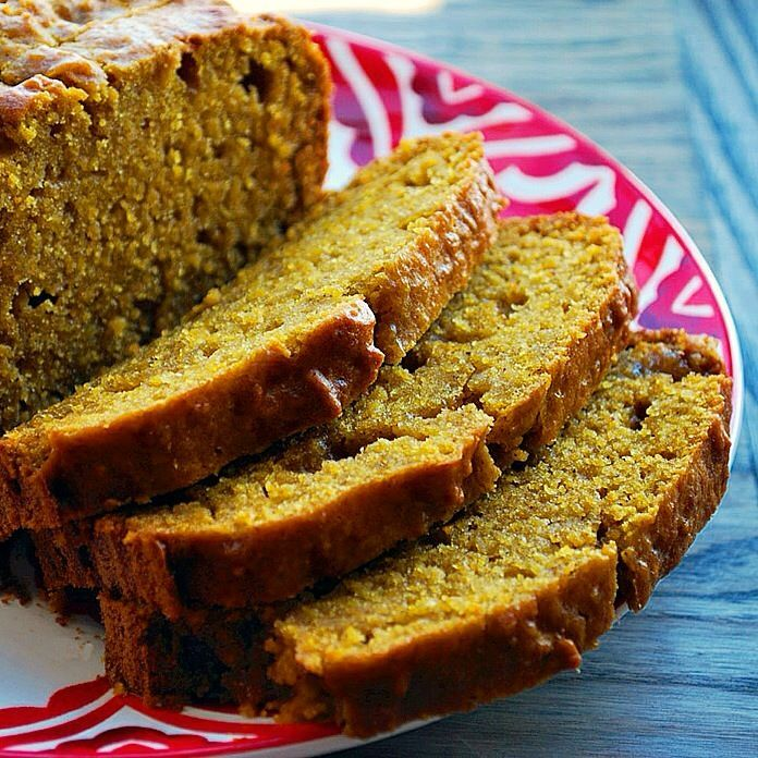 Super moist spiced pumpkin bread. Cardamom and maple syrup add warm flavor. Make a loaf or make muffins and add chocolate chips - customize it how you like!