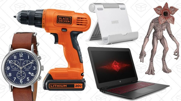 Amazon's one-day gaming PC sale, a bunch of discounted watches, and Stranger Things action figures lead off Wednesday's best deals from around the web.      Today's Best Lifestyle Deals: Watches, e.l.f. Cosmetics, ASOS, J.Crew Factory, and More Amazon's one-day watch sale, half-off...-http://trb.zone/todays-best-deals-gaming-pcs-stranger-things-one-day-watch-sale-and-more.html