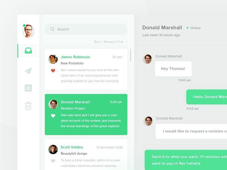 Day UI Challenge #013 - Direct Messaging