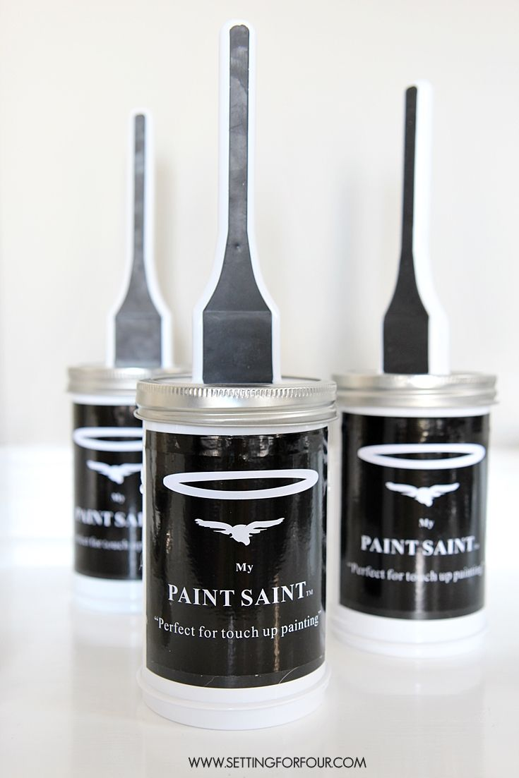 My Paint Saint - a painting tool that is the SECRET to mess free touch up painting! No more cleaning brushes! See how it worked on my walls at www.settingforfour.com