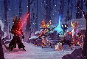 Paw Wars: The Furce Awakens by kiki-doodle