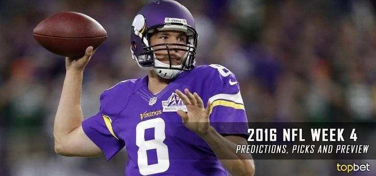 Complete picks and predictions for each NFL game on the Week 4 schedule, courtesy of TopBet online sportsbook.
