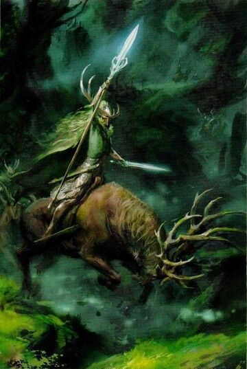 Wild Rider of Kurnous, par Games Workshop, in Warhammer Battle, livre d'armée Wood Elves 8e édition