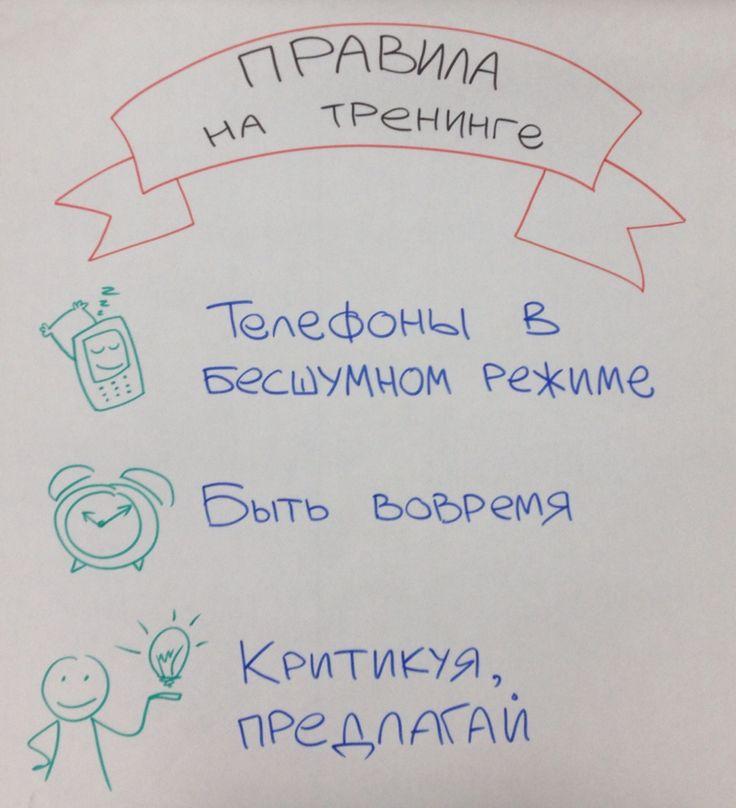 Правила на тренинге