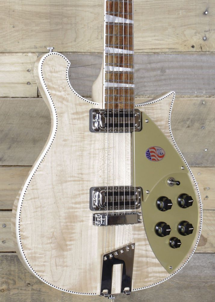 """Up For Sale is a Rickenbacker 660 Electric Guitar Mapleglo w/ Case. Scale Length 62.9 cm (24 3/4""""). - Check action and adjust if necessary. - Check for sound operation of pots and switches. - Test all electronics. 