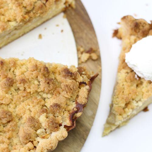 Appel kruimel taart