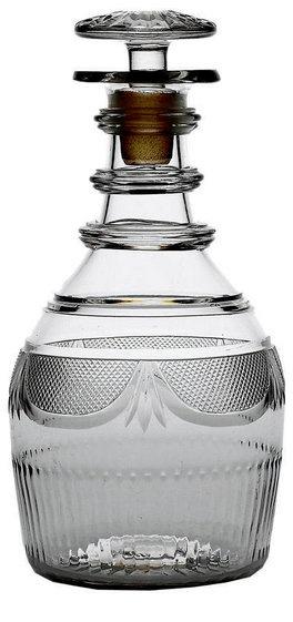 18th century irish penrose (in waterford) glass decanter