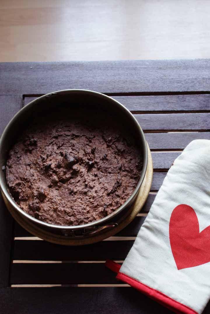 Paleo amandelmeel brownie  Dark almond chocolate Paleo cake