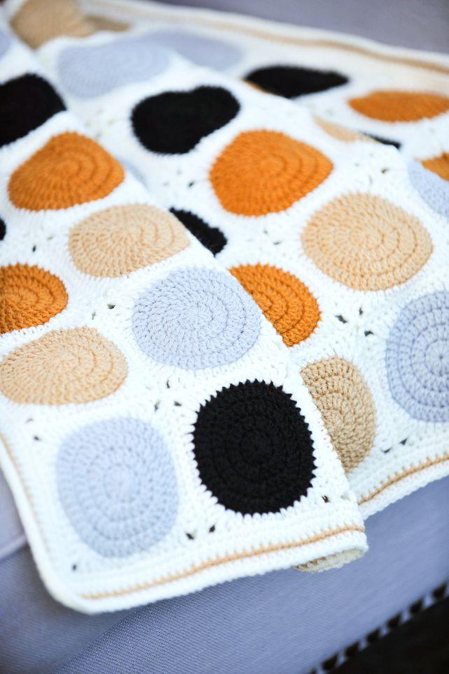 Crochet Baby Blanket Modern Colours Granny Square Pram Blanket £89.00 …
