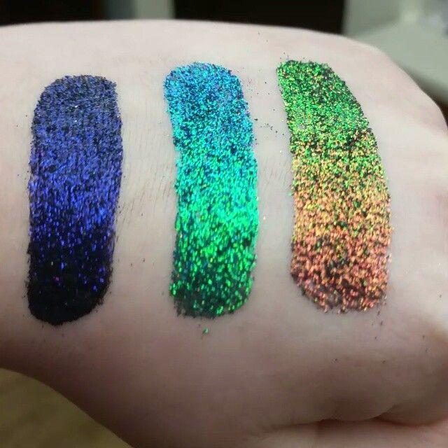 @glitterelixirscosmetics Serpentine Collection #glitter #cosmeticglitter #colorshift #duochrome