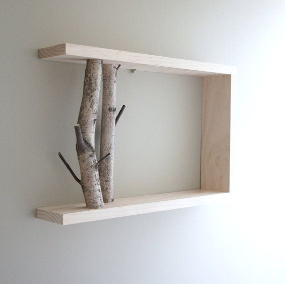 Birch branch shelf - neat and probably not too hard to make.