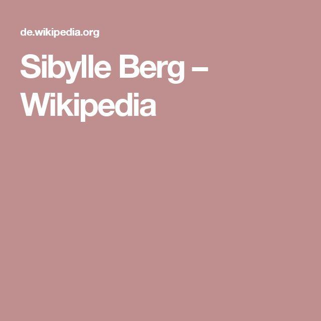 Sibylle Berg – Wikipedia