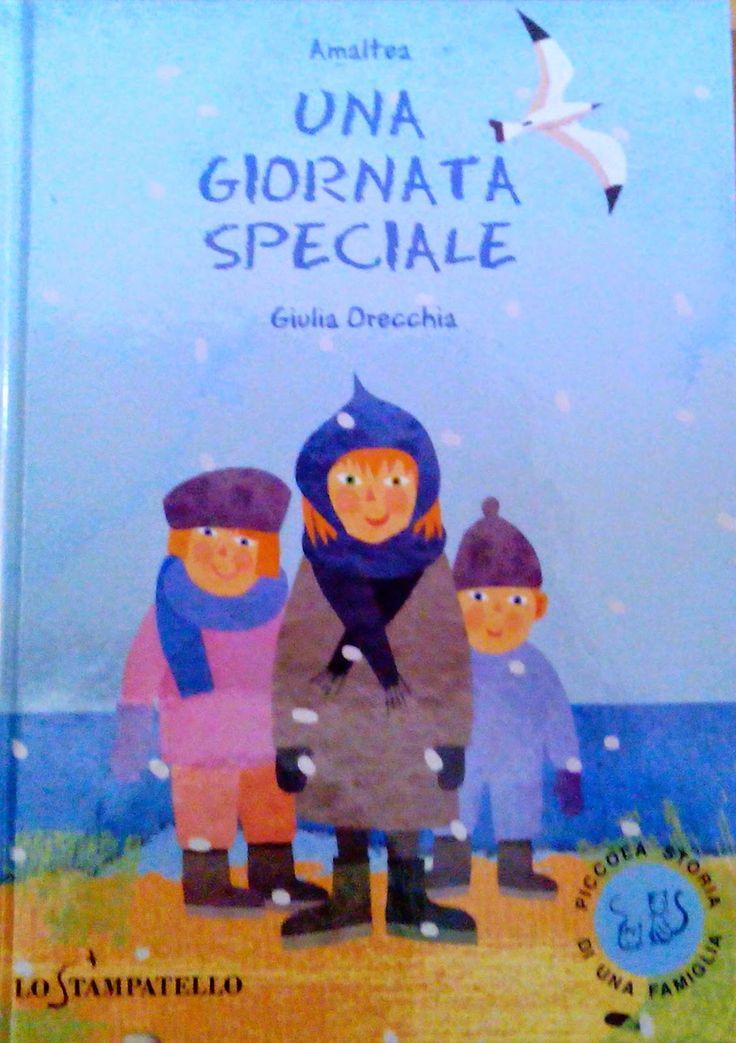 """""""Una giornata speciale"""" scritto da Amaltea, illustrato da Giulia Orecchia e pubblicato da Lo Stampatello. Un bellissimo libro per parlare di adozione ai bambini. #librinoncensurabili"""