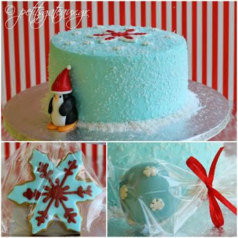 Christmas decorated oreo cake, cake pops and cookies!