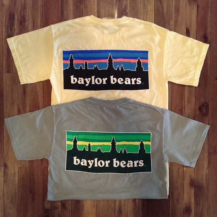 Baylor Bears Skyline T-Shirt. Baylor University. #BearCotton #Patagonia