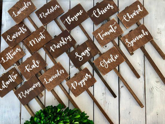 Rustic Herb Marker Garden Marker Plant Markers Garden Markers