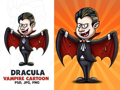 Vampire cartoon character d