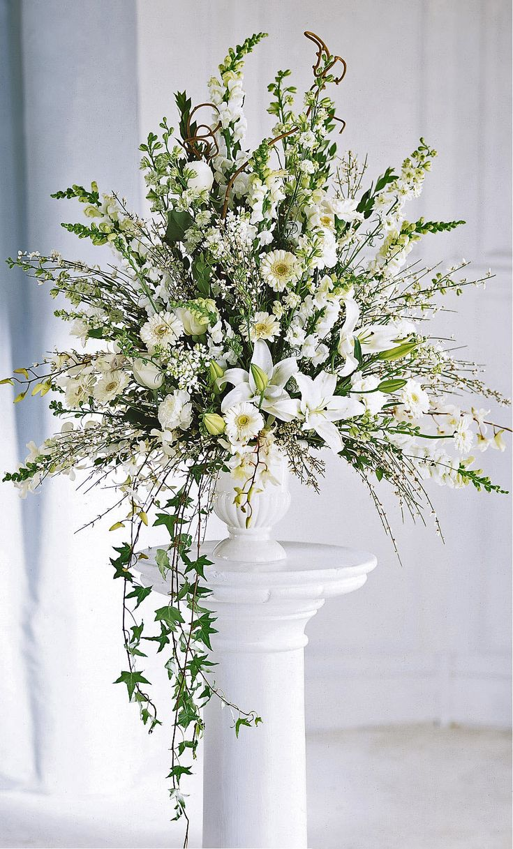 Ceremony flowers-classic alter arrangement