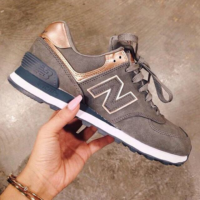 New Balance Marron Et Or Femme