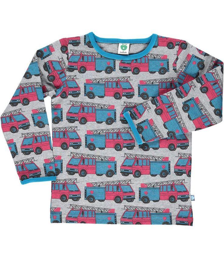 Smafolk Fire Engine Long Sleeved T-shirt